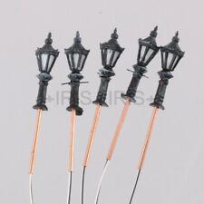 5pcs 1/300 1:300 LED Park Lanterns Street Lamp Model Railway Warm White LH-2