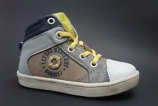 New $90 BRAQEEZ Shoes High Top Kids Boys LEATHER Toddler Sz 8 USA/24 EURO/7 UK