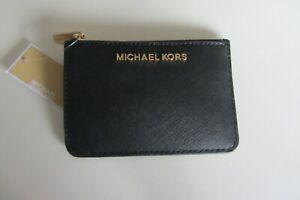 Michael Kors Black Saffiano Leather Jet Set Zip Coin Purse  ~ Free P&P