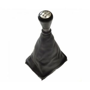 Black Leather Gear shift Gaiter Cover Housse fit peugeot 206 cc 206cc 2001 />