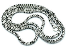 Trollbeads 68cm Foxtail oxidised Chain/Necklace-no lock_925 sterling silver