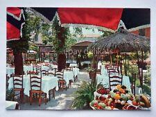 MILANO Ristorante LA STALLA Romana giardino vecchia cartolina
