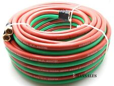 "1/4"" x 50ft Id Oxygen & Acetylene Twin Rubber Welding Hose 290Psi Home Work Shop"