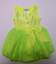 Bonnie Jean Baby Girls Neon Sequin Chiffon Bubble Spring Summer Dress 24M New