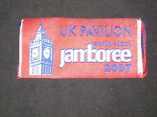 2007 World Jamboree UK Pavilion woven patch         de4