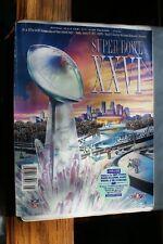 Old Vintage 1992 Super Bowl XXVI Program Redskins Bills Pro Line Cards in middle