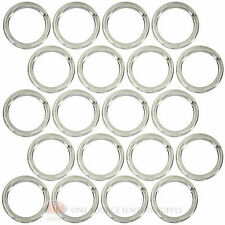 (20) Sterling Silver Plated Open Jump Rings 8mm Diameter 18 Gauge Wire Jewelry