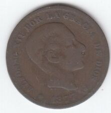Moneda De España 5 CENTIMOS 1877 Alfonso XII