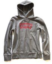 🔝 Levi's Hoodie Pullover M Blogger Sweatshirt Grau Lässig Unisex Oversize 🔝