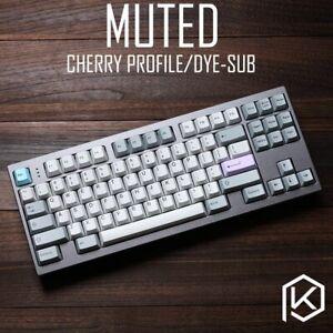 Cherry Profile Muted Colorway Custom Keycap Set PBT Keycaps MX PC Master Race