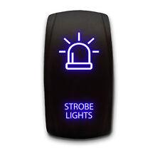 Strobe Lights Laser Etched 5 Pin Spst Rocker Switch 20a Blue