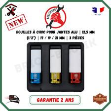 """Jeu De Douilles A Choc Pour Jantes Alu Boulonneuse  (1/2"""") 17 / 19 / 21 mm"""
