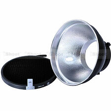 18cm Metal Reflector Diffuser+Honeycomb Grid fr Bowens Mount Studio Strobe Flash