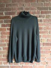 Vintage Helmut Lang Men's Turtleneck Sweater Sz 52 Large Gray Italy