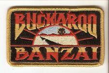 + BUCKAROO BANZAI Aufnäher Patch Logo Peter Weller John Lighgow Jeff Goldblum