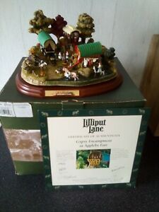 Lilliput Lane...Gypsy Encampment At Appleby Fair...with box and deeds.