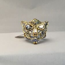 CZ BY KENNETH JAY LANE pave CZ panther mask ring size 7