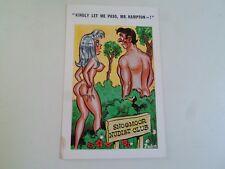 Risque Vintage Postcard Snogmoor Nudist Club Mr Hampton Humour   §A161