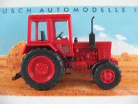 Busch 51305 Belarus MTS-82 Allradtraktor (1990) in rot/weiß 1:87/H0 NEU/OVP