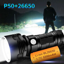 Powerful LED Flashlight Torch XHP50 USB Rechargeable Waterproof Ultra Bright