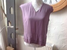 👀❤️❤️❤️***Per Una*** 👀@ M & S size 14 Mink blouse top -embellished Detail BNWT