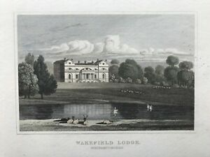 1831 Antique Print; Wakefield Lodge, Whittlebury, Northamptonshire after Neale