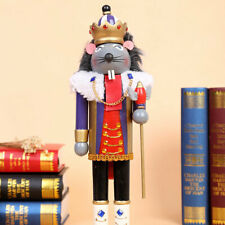 Mouse King Wooden Nutcracker Rat Walnut Soldier Christmas Ornament Decor Gifts