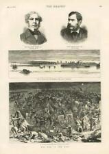 1877 Antique Print - MILITARY War East Shumla Danube Sulina Warren Watkin  (055)