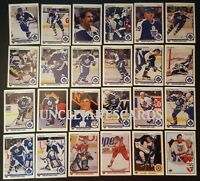1990-91 UPPER DECK TORONTO MAPLE LEAFS Select from LIST NHL HOCKEY CARDS