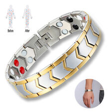Magnetic Bracelet Arthritis Energy Golf Titanium Steel Men Women Cuff USA