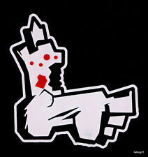 """*BLOODY* Zombie Foot Leg Family Car Decal window Sticker """"The Walking Dead"""""""
