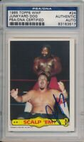 1985 Topps WWF Junk Yard Dog Vintage Signed Card #24 PSA/DNA Auto Rare JYD