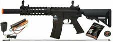 Lancer Tactical Black M4 Gen 2 AEG Electric Airsoft Rifle Gun + Battery Charger
