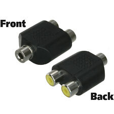 3.5mm (1/8 inch) TRS Stereo Female to 2 RCA Stereo Female Adapter