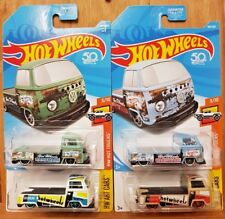 Hot Wheels 2017 & 2018 VOLKSWAGEN T2 PICKUP x4 (US CARDS) (A+/A)