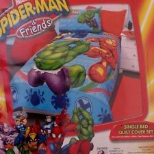 Marvel Spider-Man&Friends Kids Boys Multi-Color Quilt Cover Set For Single Bed