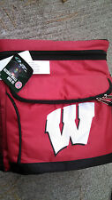 Wisconsin Badgers Football Red 18 Can Cooler