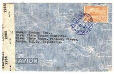 URUGUAY 1944 WW2 UNDERCOVER ADDRESS GB London River Plate Committee MA36
