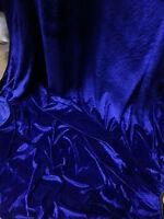 """4m)ROYAL BLUE VELOUR VELVET  FABRIC 58""""WIDE"""