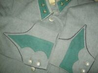 WW2 Authentic vintage Swiss  officer TUNIC 1940 s. Machine gunner.Lieutenant