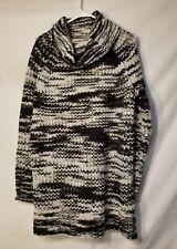 Ana Womens Knit Sweater Large Turtleneck Stripe Wave Style
