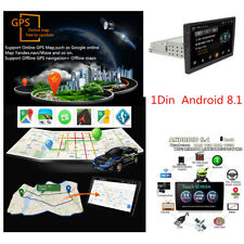 "1Din 8"" Android 8.1 Quad Core GPS Navigation Head Unit WIFI BT Car Stereo Radio"