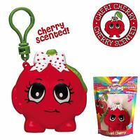 NEW! SCENTED CHERRY BACKPACK CLIP CHERI CHERRY WHIFFER SQUISHER COLLECTIBLE