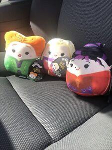 "Disney Hocus Pocus Squishmallow Squishmallow Set 3 Sanderson Sisters BNWT HTF 5"""