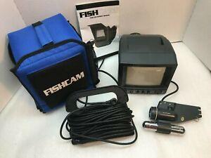 "FISHCAM UNDERWATER VIDEO SYSTEM 5"" B/W CRT MONITOR W/MANUAL"