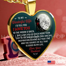 Necklace Wedding Anniversary Gift For Wife I Love You to the Moon & Back Chain