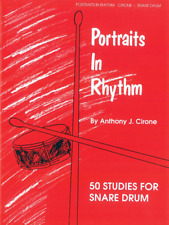 """""""Portraits In Rhythm"""" 50 Studies for Snare Drum MUSIC BOOK-BRAND NEW ON SALE!!"""