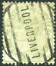 1883-4  4d Green Liverpool cancel Sg 193 GOOD USED  V83924