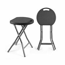 TAVR Folding Stool Set of Two 18.1 inch Height Light Weight Metal and Plastic...
