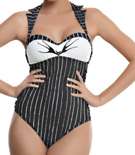 GOTHIC COSPLAY NIGHTMARE BEFORE CHRISTMAS JACK SWIMSUIT BATHING SUIT HALLOWEEN M